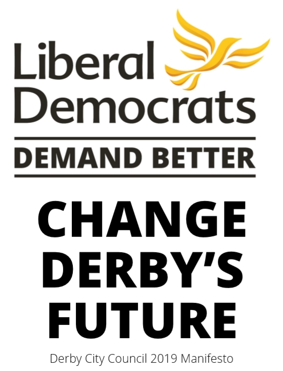 Front cover of the Derby Liberal Democrats 2019 manifesto